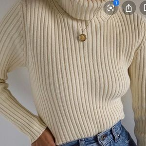 Lands End 💯 % Cotton Turtleneck